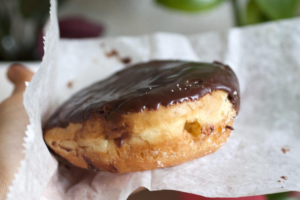 boston cream donut at donut pub