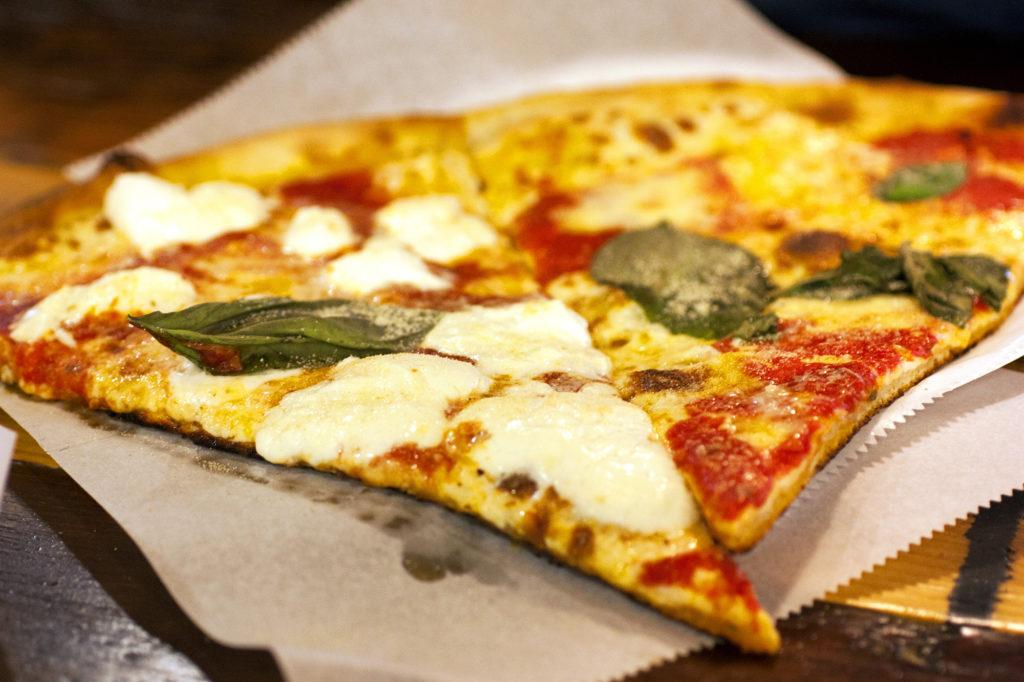 burrata pizza at Table 87