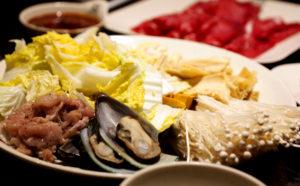 meats & veggies at 99 Favor Taste