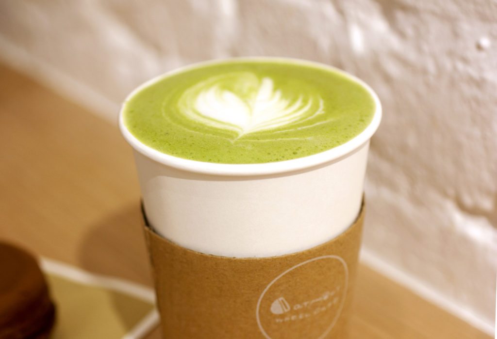 matcha latte at catmint