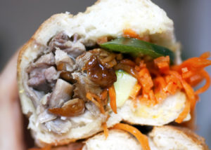 duck banh mi at Nicky's